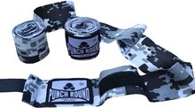 Punch Round Perfect Stretch Camo Black White Bandages 460 cm