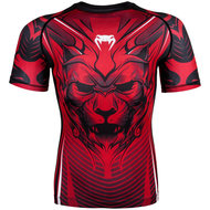 Venum ShirtCompression Bloody Roar Rashguards S/S Zwart Rood