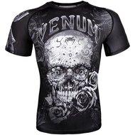 Venum Rash Guards Santa Muerte 3.0 S/S Zwart Wit