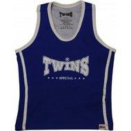 Twins dames topje Blue White met sport bh TSB-1 by Twins