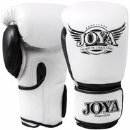 Joya POWER MAX Kickboks Handschoenen Wit Zwart Leder
