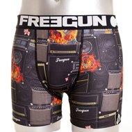 Freegun Underwear Men Premium Boxershorts Rock Black